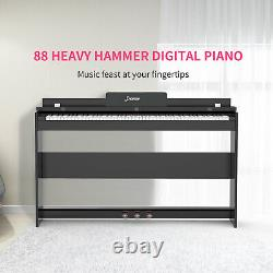 88 Full Weighted Hammer Action Key Digital Piano with USB Headphone Mic Audio